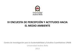 ENCUESTA SOBRE ACTITUDES HACIA EL MEDIO AMBIENTE