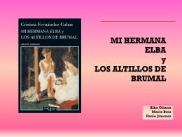 MI HERMANA ELBA y LOS ALTILLOS DE BRUMAL