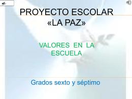 Valores en la escuela - Leonardo Heiler Mora Castañeda