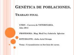 Genética de poblaciones. Trabajo final