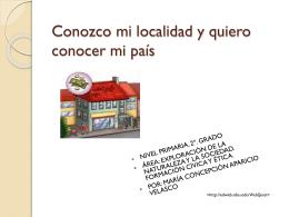 """Webquest """"Conozco mi localidad y quiero conocer"""