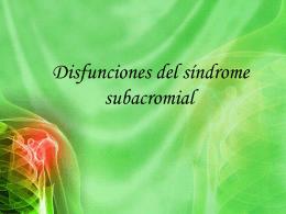 Disfunciones del síndrome subacromial