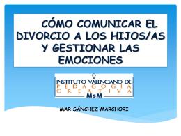 CÓMO COMUNICAR EL DIVORCIO A LOS HIJOS/AS Y