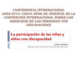 Jorge Cardona Mesa Redonda niños con discapacidad