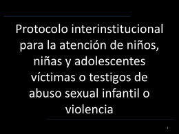 Protocolo interinstitucional para la atención de niños, niñas y