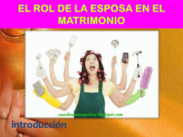 EL ROL DE LA ESPOSA EN EL MATRIMONIO