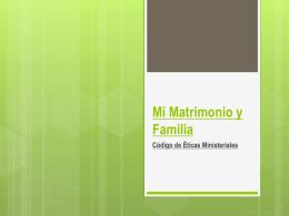 24 Etica en el matrimonio y la familia