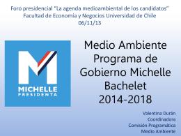 Medio Ambiente Programa de Gobierno Michelle Bachelet