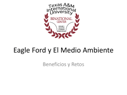 Eagle Ford y El Medio ambiente - Texas A&M International University
