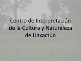 APLIACIÓN Y MEJORAMIENTO CENTRO DE VISITANTES VUELTA