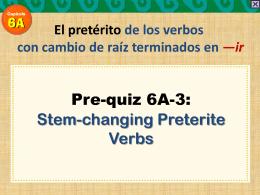 Los verbos con cambio radical