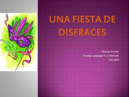 UNA FIESTA DE DISFRACES