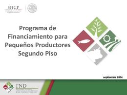 Programa de Financiamiento para Pequeños