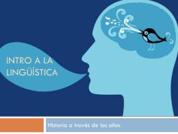 Intro a la lingüística