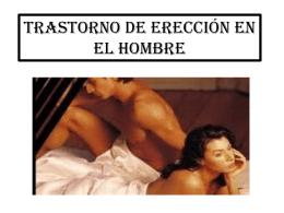 Trastorno de erección en el hombre