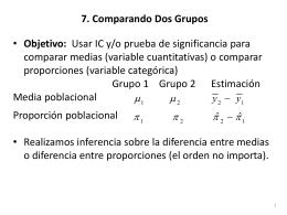 7. Comparando dos grupos