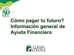 ¿Qué es ayuda financiera?