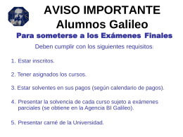 AVISO IMPORTANTE - Universidad Galileo