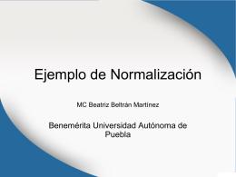 Ejemplo de Normalización - Beatriz Beltrán Martínez