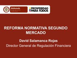 1. acceso a mercados financieros - Ministerio de Hacienda y Crédito