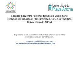 Segundo Encuentro Regional del Núcleo Disciplinario Evaluación