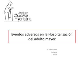 Eventos adversos en la Hospitalización del adulto mayor