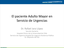 el paciente adulto mayor en servicio de urgencias