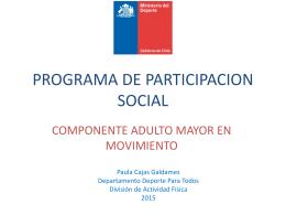 PROGRAMA DE PARTICIPACION SOCIAL