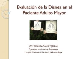 Evaluación de la Disnea en el Paciente Adulto Mayor