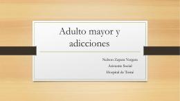 Adulto mayor y adicciones - Servicio de Salud Talcahuano