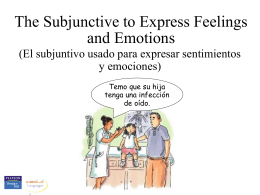 The subjunctive, feelings and emotions