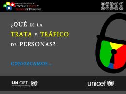 Qué es la trata y tráfico de personas?