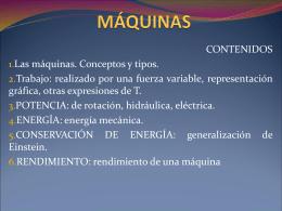 MÁQUINAS. CONCEPTOS