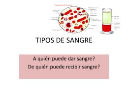 TIPOS DE SANGRE - El Maestro en Casa