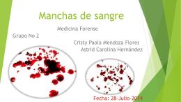 Manchas de sangre - alvarezunahvs