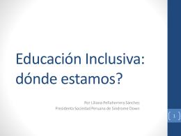 Educación Inclusiva: dónde estamos?