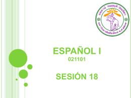 ESPAÑOL I LECCIÓN 4 (3ª parte)