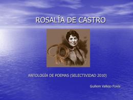 POESÍA ROSALÍA DE CASTRO