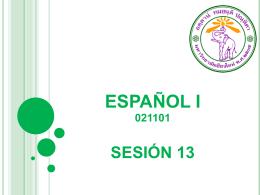 ESPAÑOL I SESIÓN 2