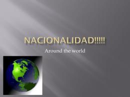 Nacionalidades!!! - Clasedesenoranewman