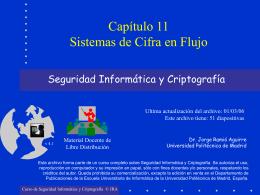 Capítulo 11: Sistemas de Cifra en Flujo