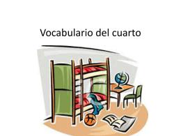 Vocabulario del cuarto