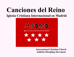 Canciones - Madrid International Christian Church