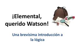 Elemental, querido Watson!
