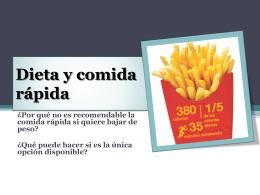 Dieta y comida rápida