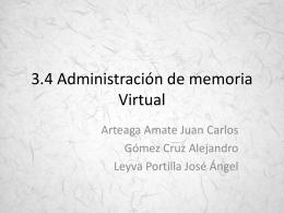 3.4 Administración de memoria Virtual