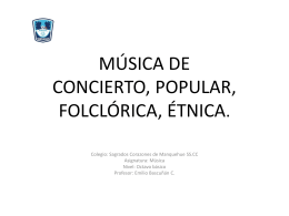 Música de concierto popular etnica
