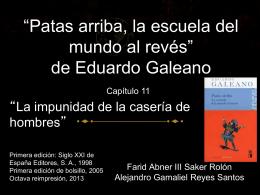 *Patas arriba, la escuela del mundo al revés* de Eduardo Galeano