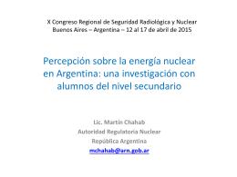 X Congreso Regional de Seguridad Radiológica y Nuclear Buenos