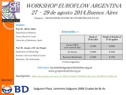WORKSHOP EUROFLOW ARGENTINA 27 al 29 de Agosto Buenos